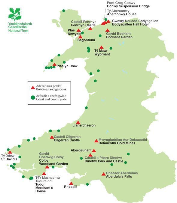 National Trust Map Wales National Trust Wales National Trust Map